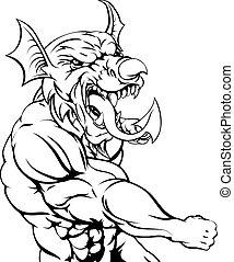 Welsh Dragon Punching