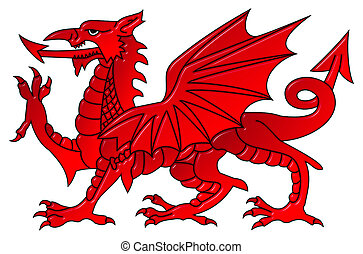 Welsh Dragon With a Bevel Effect - Welsh dragon with a bevel...