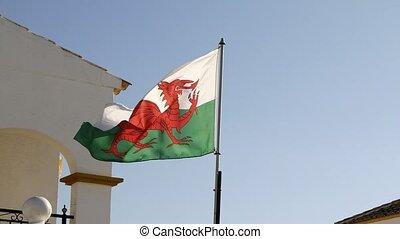 Welsh Flag flying in Vistabella near Torrevieja