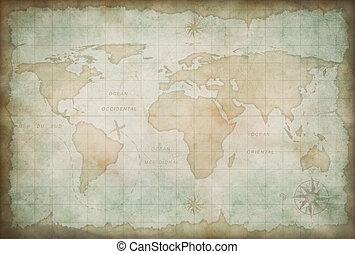 welt, altes , hintergrund, landkarte
