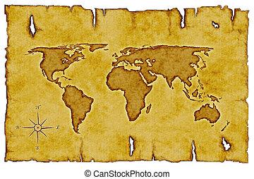 welt, altes , landkarte