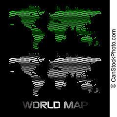 welt, digital, landkarte