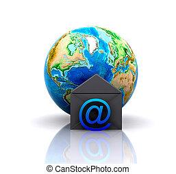 welt, e-mail, ikone