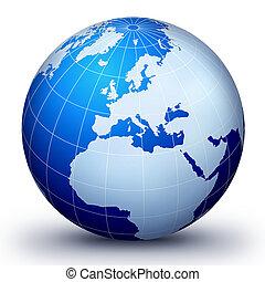 welt globus, evolutionsphasen