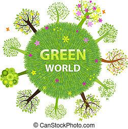 welt, grün