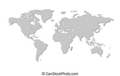 welt, grau, landkarte