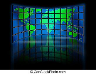 welt, multimedia, monitor