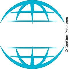 welt, schablone, logo