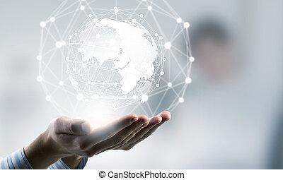 welt, technologien, verbinden
