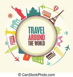 welt, tour, reise