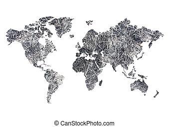 welt, treibhauseffekt, landkarte
