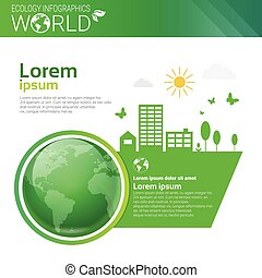 welt, umweltschutz, grün, energie, ökologie, infographics,...