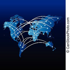 welthandel, internet, markt, landkarte