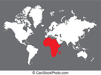 Afrika - Weltkarte Afrika