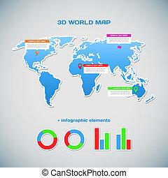weltkarte, infographics