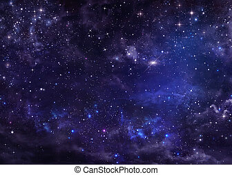 weltraum, sternenhimmel, tief, nacht