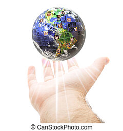 weltweit, kommunikation, begriff, global