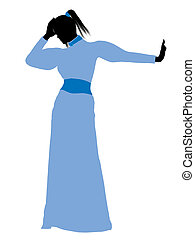 Wendy of Peter Pan Silhouette Illustration - Wendy of Peter...