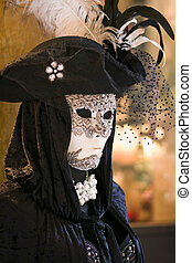 wenecja, maska, kostium, karnawał