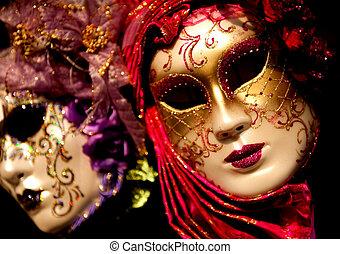 wenecjanin, karnawał, maski