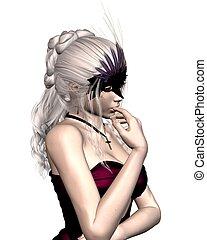 wenecjanin, kobieta, mięsopustna maska, -, 1
