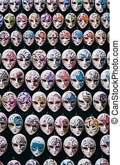 wenecjanin, miniatura, karnawał, maski