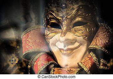 wenecka maska, barwny, karnawał