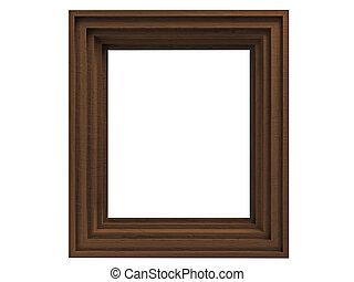 Wenge frame isolated on white background