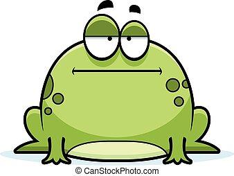 wenig, gelangweilte , frosch