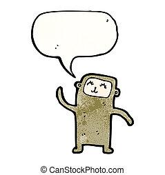 wenig, karikatur, affe