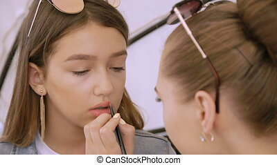 wenig, mode, 4k, hübsch, make-up, modell
