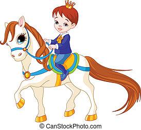 wenig, prinz, pferd