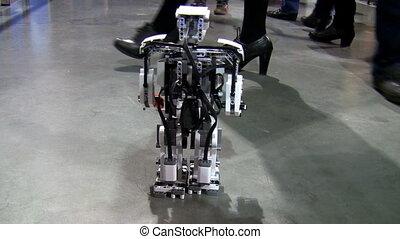 wenig, roboter, gehen