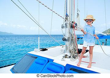 wenig, yacht, luxus, m�dchen