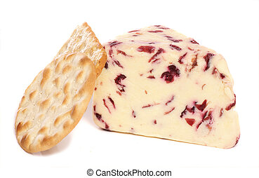 Wensleydale and Cranberry cheese and biscuits studio cutout