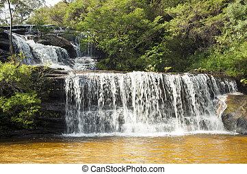 Wentworth Walls waterfall in Blue Mountains, Australia near Sydney