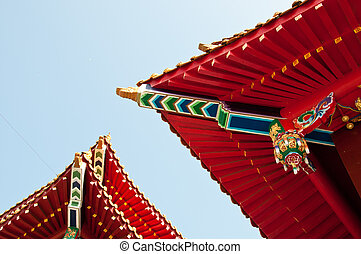 wenwu, שמש, אגם, גג, ירח, טייוואן, בית מקדש
