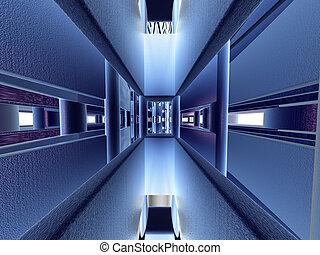 WEP - Visualisation of an electronic gateway.