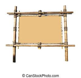 werbewand, bambus