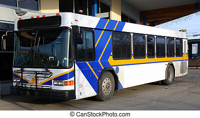 werbewand, bus, öffentlichkeit, werbung, leer