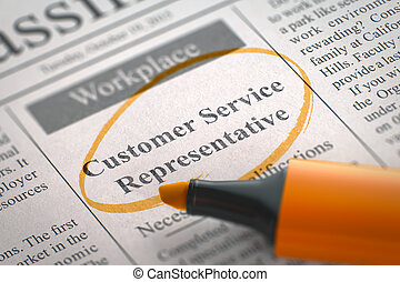 We're Hiring Customer Service Representative.