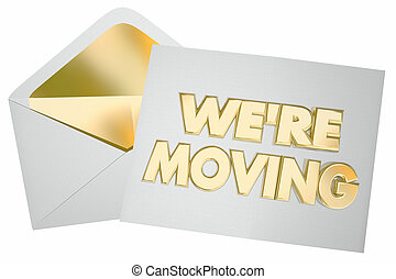 Were Moving Letter Note Envelope We Are at New Address 3d...