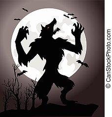 it is a dangerous werewolf in vector