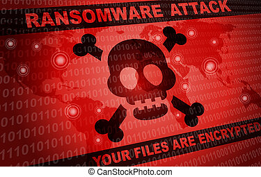 wereld, aanval, computerkraker, achtergrond, ransomware, ...