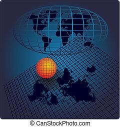 wereld, abstract, achtergrond, kaart
