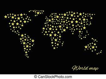 wereld, abstract, kaart