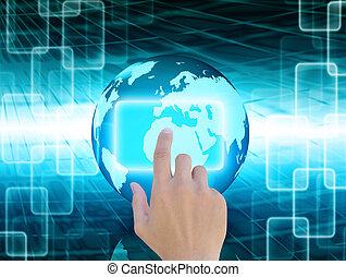 wereld, abstract, technologie, achtergrond