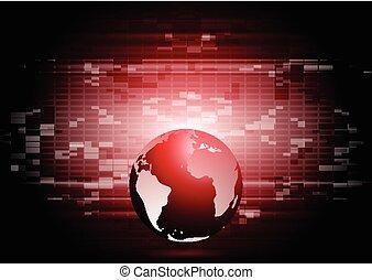 wereld, abstract, technologie, globe, achtergrond