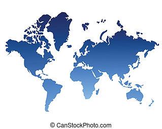 wereld, achtergrond, kaart