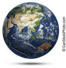 wereld, australië, azie, kaart